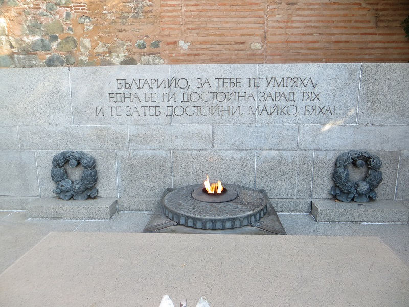 The memorial of the unknown hero is a everlasting fire.
